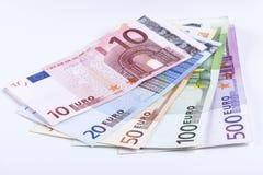 Geïsoleerde Euro Stock Afbeelding