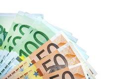 Geïsoleerde euro Stock Foto