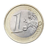 1 geïsoleerde euro Stock Foto's