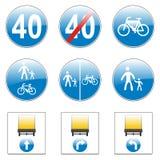 Geïsoleerde Europese verkeersteken Stock Illustratie