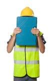 Geïsoleerde fabrieksarbeider Stock Afbeelding