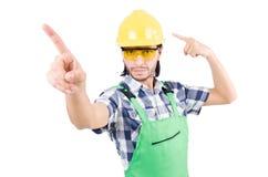 Geïsoleerde fabrieksarbeider Royalty-vrije Stock Afbeeldingen