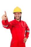 Geïsoleerde fabrieksarbeider Stock Foto