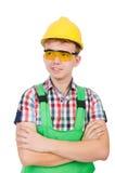 Geïsoleerde fabrieksarbeider Stock Fotografie