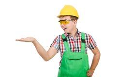 Geïsoleerde fabrieksarbeider Stock Foto's
