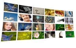 Geïsoleerde foto-collage stock foto