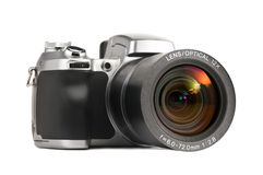 Geïsoleerde fotocamera Stock Foto's