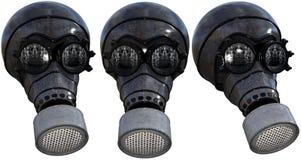Geïsoleerde gasmaskerillustratie, royalty-vrije stock fotografie