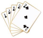 Geïsoleerde Gelijke Clubsspeelkaarten stock illustratie