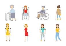 Geïsoleerde geplaatste gehandicapten Royalty-vrije Stock Foto's