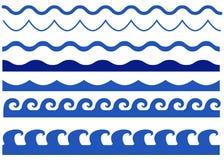 Geïsoleerde golven vectorreeks stock foto's