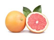 Geïsoleerde grapefruit Stock Afbeeldingen