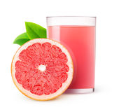 Geïsoleerde grapefruit juice stock afbeelding
