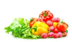 Geïsoleerde groenten royalty-vrije stock foto