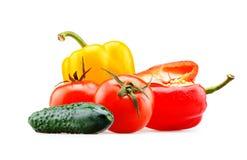 Geïsoleerde groenten stock fotografie