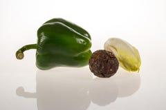 Geïsoleerde groentenstudio Stock Foto's