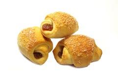 Geïsoleerde groep croissant Stock Fotografie