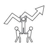 Geïsoleerde groep pictogrammenontwerp Stock Foto