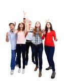 Geïsoleerde groepsstudent royalty-vrije stock foto