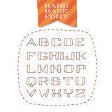 Geïsoleerde handdrawn zonder serif doopvont Stock Foto