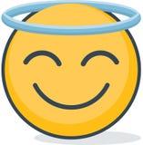 Geïsoleerde heilige emoticon Geïsoleerd emoticon vector illustratie