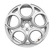 Geïsoleerde het aluminiumwiel van de auto royalty-vrije stock foto