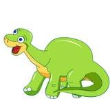 Geïsoleerde het beeldverhaal van het dinosauruskarakter Stock Foto