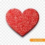 Geïsoleerde het hart van de valentijnskaartendag, transparante vectoreffect achtergrond Royalty-vrije Stock Fotografie