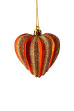 (Geïsoleerde) het hartdecoratie van de kerstboom royalty-vrije stock afbeelding