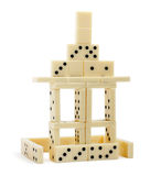 Geïsoleerde het huis van de domino Stock Foto