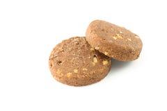 Geïsoleerde het koekje van de chocolade royalty-vrije stock afbeelding