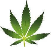 Geïsoleerde het pictogram van het cannabisblad vector illustratie