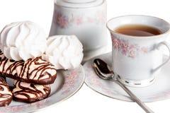 Geïsoleerde het snoepje van de theecake Stock Afbeelding