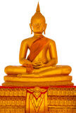 Geïsoleerde het standbeeld van Boedha Stock Foto's