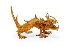 Geïsoleerde1 het standbeeld van de draak Royalty-vrije Stock Foto's