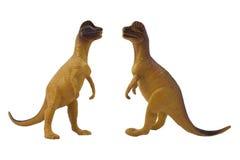 Geïsoleerde het stuk speelgoed van de dilophosaurusdinosaurus foto Royalty-vrije Stock Foto