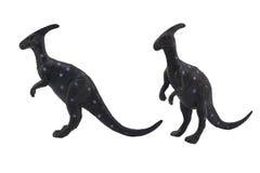 Geïsoleerde het stuk speelgoed van de parasaurolophusdinosaurus foto Royalty-vrije Stock Foto's