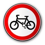 Geïsoleerde het Teken van het fietserverkeer vector illustratie