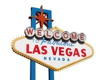 Geïsoleerde het Teken van Las Vegas Stock Afbeeldingen