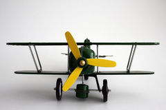 Geïsoleerde, het Vliegtuig van het stuk speelgoed Stock Afbeeldingen