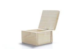 Geïsoleerde houten doos Stock Afbeeldingen