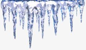 Geïsoleerde ijskegels Royalty-vrije Stock Afbeeldingen