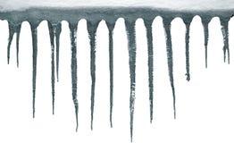 Geïsoleerde ijskegels, het knippen weg Stock Foto