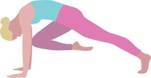 Geïsoleerde illustratie van vrouw het praktizeren yoga vector illustratie
