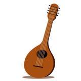 Geïsoleerde illustrator van mandoline stock illustratie