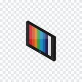 Geïsoleerde Isometrische Muurtv Kan het televisie Vectorelement voor TV, Televisie, het Concept van het Apparatenontwerp worden g vector illustratie