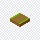 Geïsoleerde Isometrische Weg Kan het voetpad Vectorelement voor Voetpad, Weg, het Concept van het Wegontwerp worden gebruikt Stock Fotografie