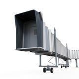 Geïsoleerde Jetway Royalty-vrije Stock Foto