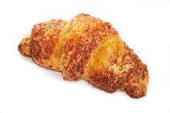Geïsoleerde kaasachtig van de croissant Stock Afbeelding
