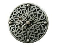 Geïsoleerde Keltische broche Royalty-vrije Stock Foto's